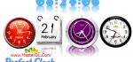 دانلود ساعت های بسیار زیبا برای دکستاپ PerfectClock v4.5.2.32