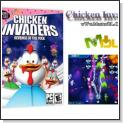 بازي بسيار زيبا و پرطرفدار مرغان مهاجم ورژن 4 Chicken Invaders v4 Ultimate