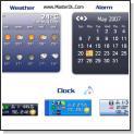 ساعت و تقویم بسیار زیبا به همراه نمایشگر آب و هوا  با نرم افزار Weather Clock 4.3