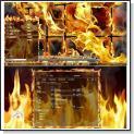 تم شعله آتش برای ویندوز Flame Theme for Windows 7